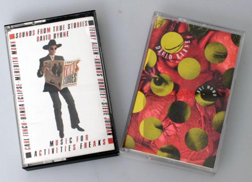 David Byrne Sounds From True Stories / Rei Momo cassette album UK BYNCLSO550568