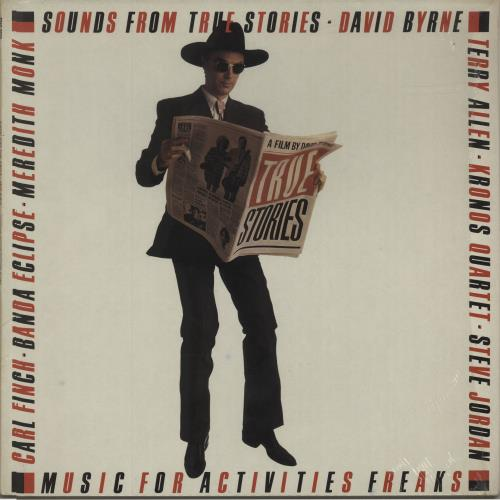 David Byrne Sounds From True Stories - Opened shrink vinyl LP album (LP record) UK BYNLPSO684549