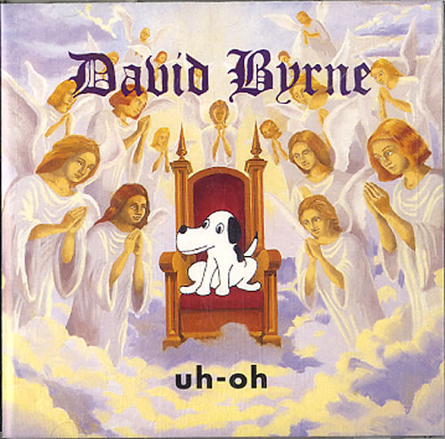 David Byrne Uh-oh - Autographed CD album (CDLP) US BYNCDUH623107
