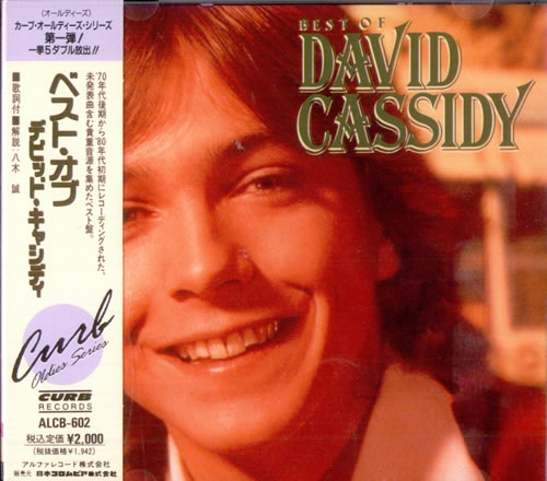 David Cassidy Best Of David Cassidy Japanese Promo Cd