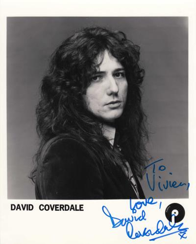David Coverdale Signed Photograph photograph UK DCOPHSI740444