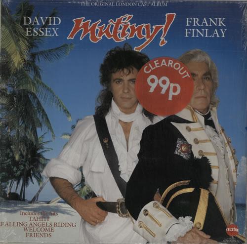 David Essex Mutiny - shrink vinyl LP album (LP record) UK ESSLPMU576721
