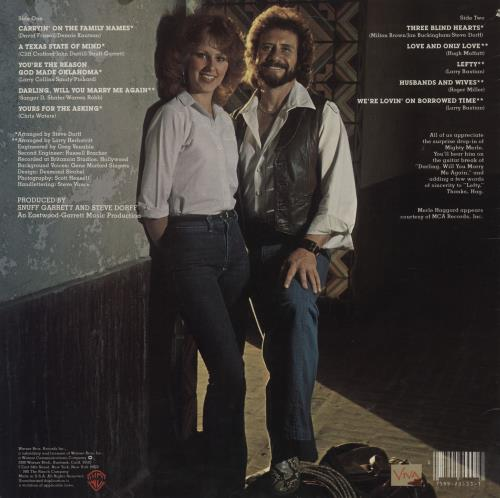 David Frizzell Carryin' On The Family Name vinyl LP album (LP record) US D40LPCA759518