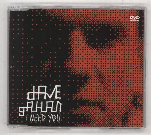 David Gahan I Need You DVD Single UK DGNDSIN254392