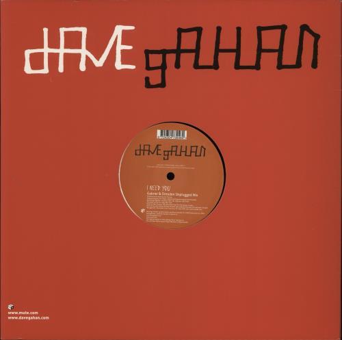 "David Gahan I Need You 12"" vinyl single (12 inch record / Maxi-single) UK DGN12IN256729"