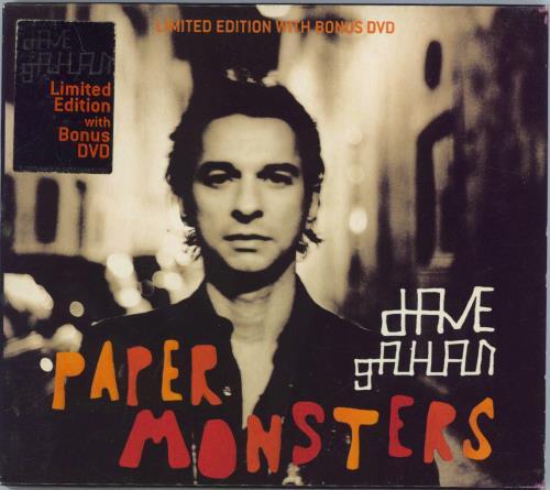 David Gahan Paper Monsters 2-disc CD/DVD set UK DGN2DPA248387