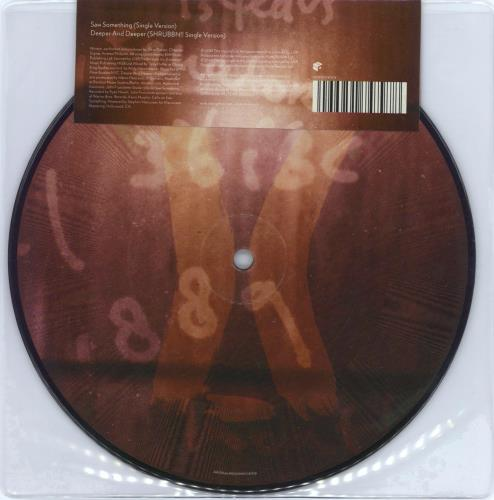 """David Gahan Saw Something / Deeper + Deeper 7"""" vinyl picture disc 7 inch picture disc single UK DGN7PSA422504"""