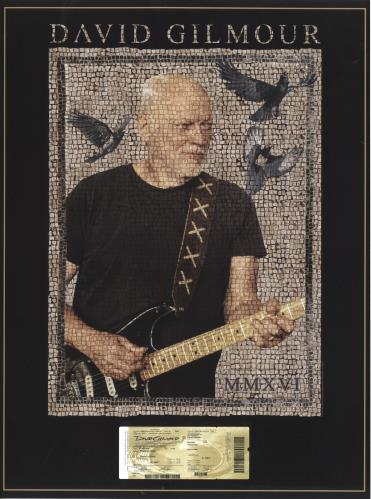 David Gilmour Live 2016 - Pompei poster UK DGLPOLI706109