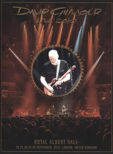 David Gilmour Live 2016 - Royal Albert Hall poster UK DGLPOLI684334