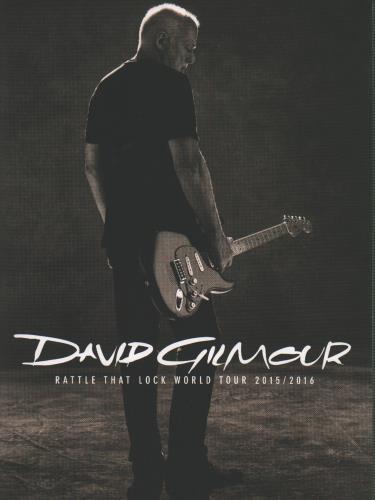 David Gilmour Rattle That Lock World Tour 2015/2016 tour programme UK DGLTRRA652671