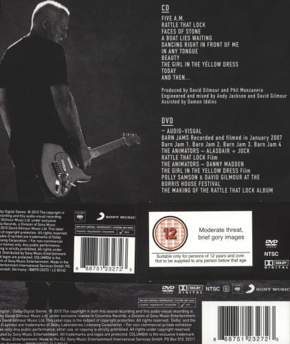 David Gilmour Rattle That Lock 2 CD album set (Double CD) UK DGL2CRA717199