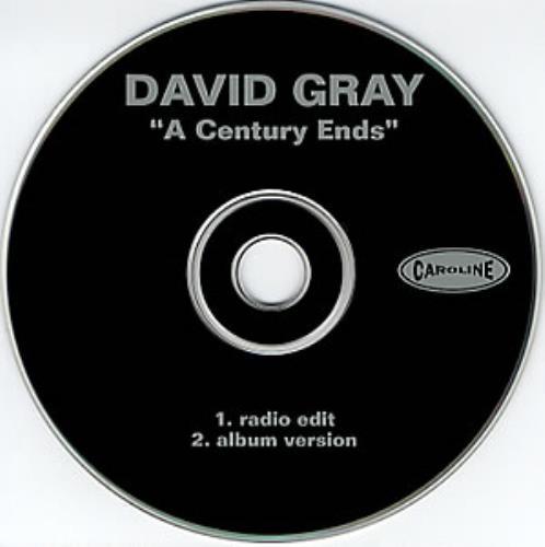 "David Gray A Century Ends CD single (CD5 / 5"") US DGRC5AC351942"