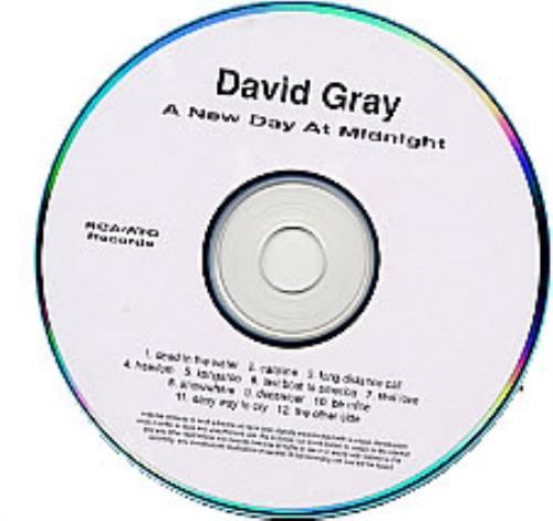 David Gray A New Day At Midnight CD-R acetate US DGRCRAN226501