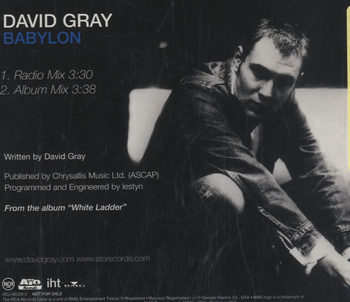 "David Gray Babylon CD single (CD5 / 5"") US DGRC5BA174169"