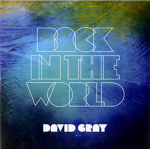 David Gray Back In The World CD-R acetate UK DGRCRBA607474