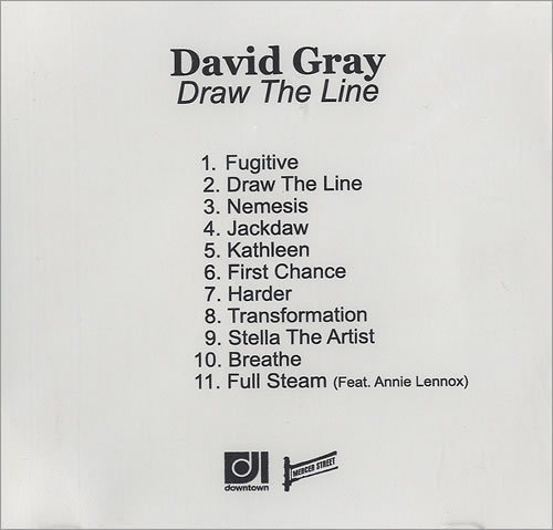 David Gray Draw The Line CD-R acetate US DGRCRDR490999