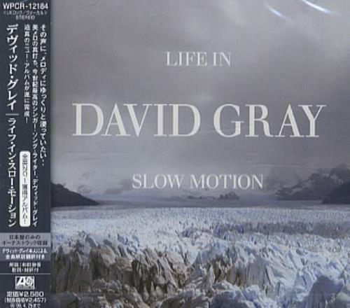 David Gray Life In Slow Motion CD album (CDLP) Japanese DGRCDLI337757