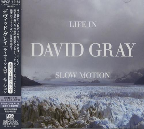 David Gray Life In Slow Motion CD album (CDLP) Japanese DGRCDLI376763