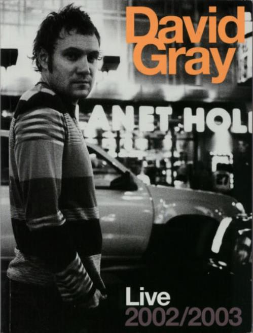 David Gray Live 2002/2003 tour programme US DGRTRLI239987