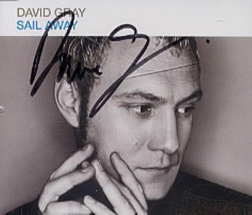 """David Gray Sail Away - Autographed CD single (CD5 / 5"""") UK DGRC5SA209059"""