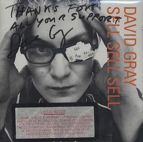 David Gray Sell Sell Sell - Autographed CD album (CDLP) US DGRCDSE399246