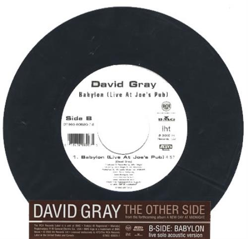 """David Gray The Other Side 7"""" vinyl single (7 inch record) US DGR07TH367777"""