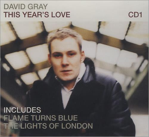 "David Gray This Year's Love CD single (CD5 / 5"") German DGRC5TH299227"