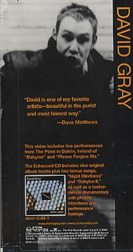 David Gray White Ladder video (VHS or PAL or NTSC) US DGRVIWH239947