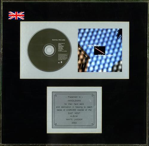 David Gray White Ladder in-house award disc US DGRAIWH501810