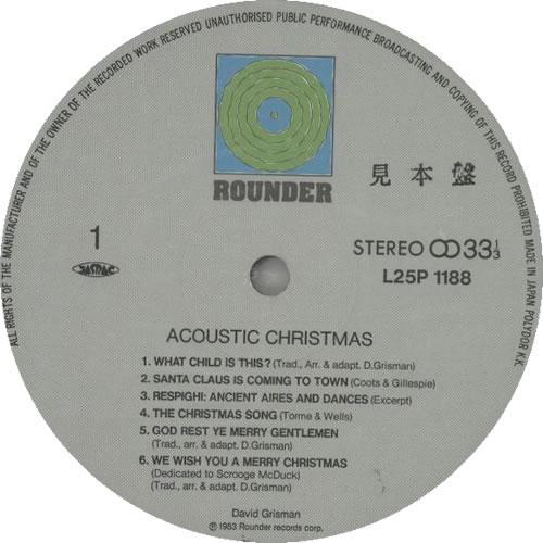 David Grisman Acoustic Christmas vinyl LP album (LP record) Japanese D-GLPAC629721