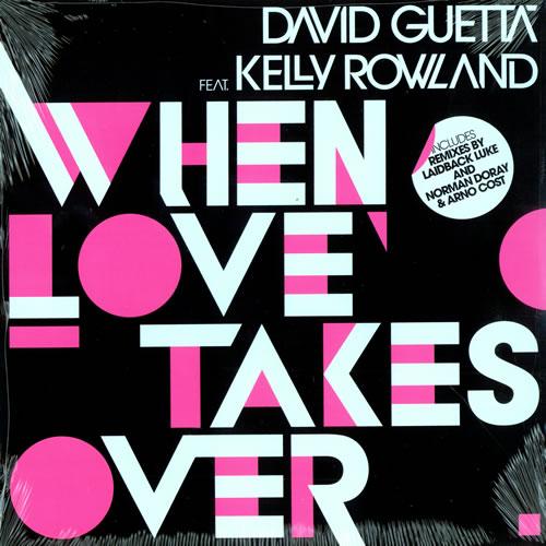 """David Guetta When Love Takes Over 12"""" vinyl single (12 inch record / Maxi-single) UK DVU12WH472641"""