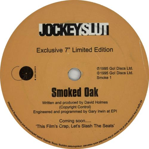 "David Holmes Smoked Oak 7"" vinyl single (7 inch record) UK DHM07SM276393"