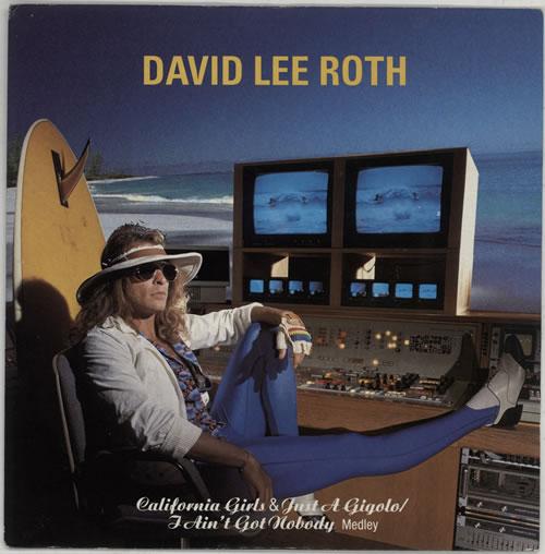 "David Lee Roth California Girls 7"" vinyl single (7 inch record) UK DLR07CA642259"