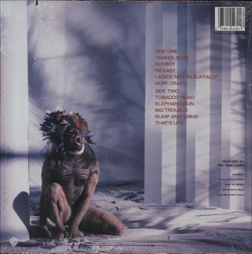 David Lee Roth Eat 'Em And Smile - Hype Stickered shrink vinyl LP album (LP record) US DLRLPEA765858