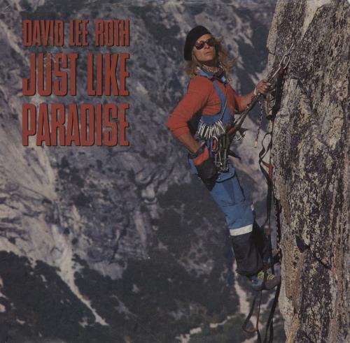 "David Lee Roth Just Like Paradise 7"" vinyl single (7 inch record) US DLR07JU759661"