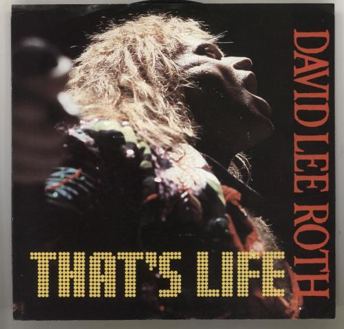 "David Lee Roth That's Life 7"" vinyl single (7 inch record) US DLR07TH731450"