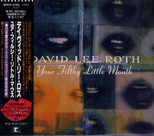 David Lee Roth Your Filthy Little Mouth CD album (CDLP) Japanese DLRCDYO584280