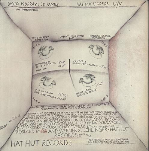 David Murray 3D Family 2-LP vinyl record set (Double Album) Swiss DD72LDF706113