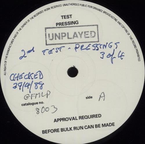 David Newton Given Time - Test Pressing vinyl LP album (LP record) UK DQMLPGI673740