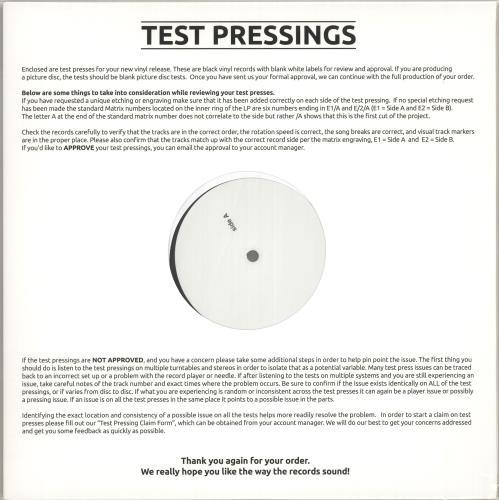 David Sylvian Alchemy An Index Of Possibilities - 180gm - Test Pressing vinyl LP album (LP record) UK SYLLPAL719260