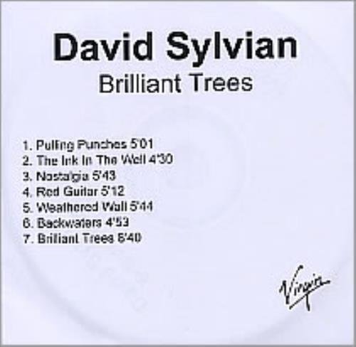 David Sylvian Brilliant Trees CD-R acetate UK SYLCRBR261901