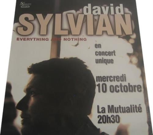 David Sylvian Everything & Nothing poster French SYLPOEV410527