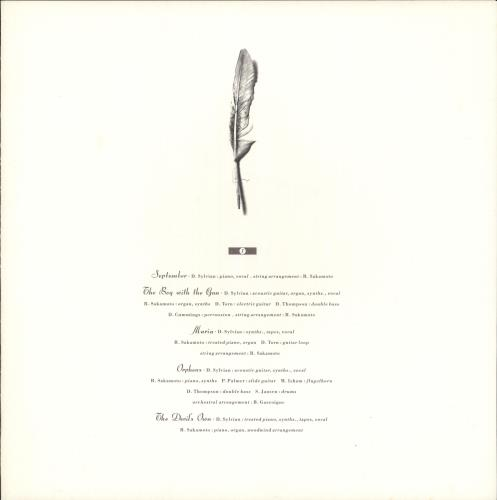 David Sylvian Secrets Of The Beehive - Autographed + insert vinyl LP album (LP record) UK SYLLPSE725858