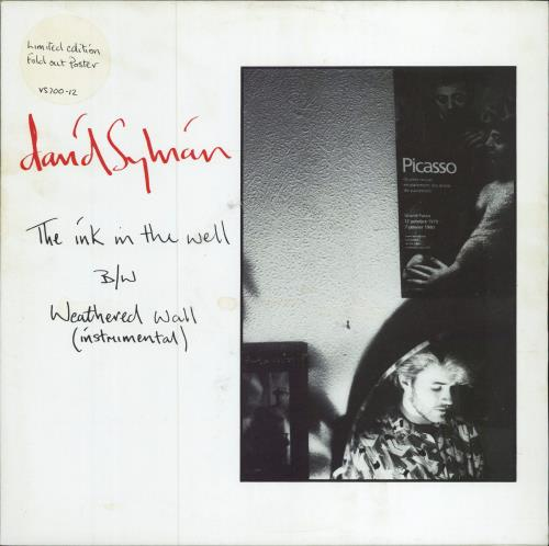"""David Sylvian The Ink In The Well - Poster sleeve - EX 12"""" vinyl single (12 inch record / Maxi-single) UK SYL12TH629332"""