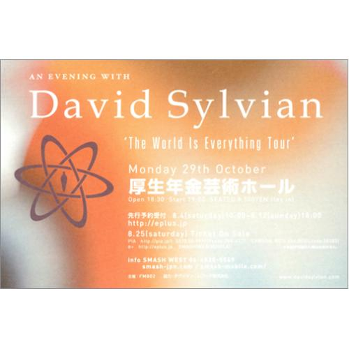 David Sylvian The World Is Everything Tour handbill Japanese SYLHBTH416680