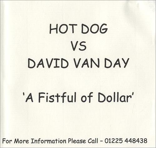 David Van Day A Fistful Of Dollar - One Track CD-R acetate UK DVYCRAF217748