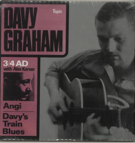 "Davy Graham 3/4 A.D. 7"" vinyl single (7 inch record) UK DVG07AD679637"
