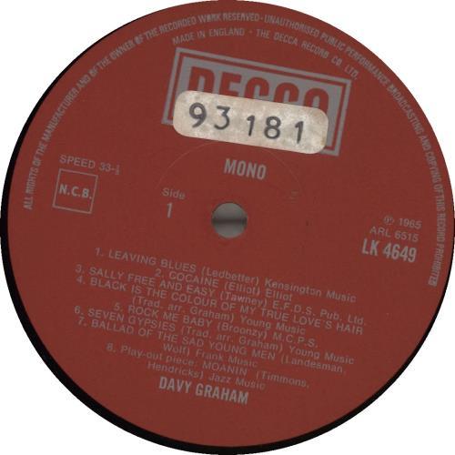 Davy Graham Folk, Blues & Beyond... - 2nd vinyl LP album (LP record) UK DVGLPFO692023