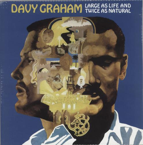 Davy Graham Large As Life And Twice As Natural vinyl LP album (LP record) UK DVGLPLA728087