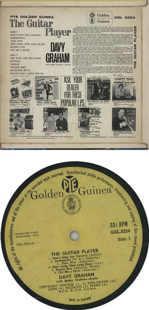 Davy Graham The Guitar Player vinyl LP album (LP record) UK DVGLPTH607118